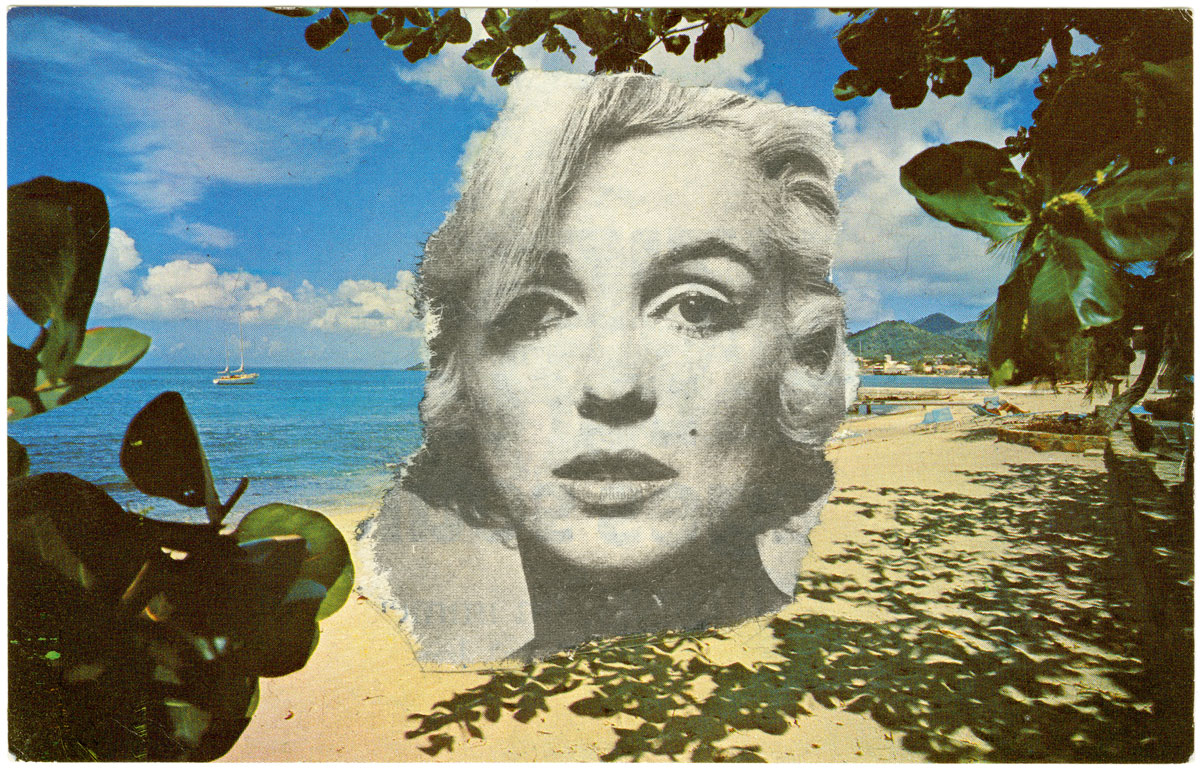 A Marilyn Monroe postcard from Ellsworth Kelly