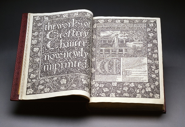 The Works of Geoffrey Chaucer, illustrated by William Morris. Image courtesy of the William Morris Society