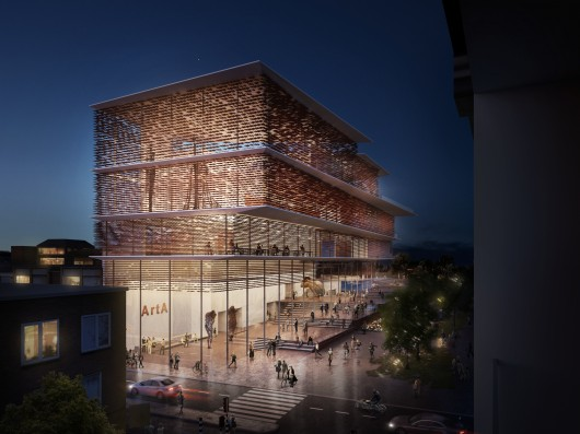 Kengo Kuma & Associates ArtA plans