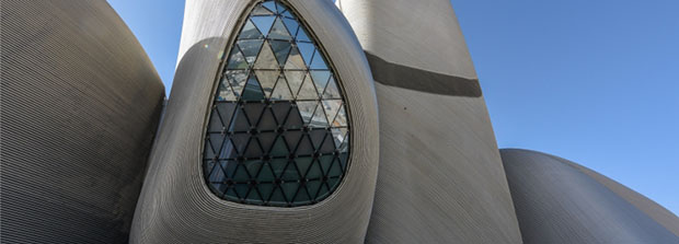 The King Abdulaziz Center for World Culture by Snøhetta. Image courtesy of Saudi Aramco