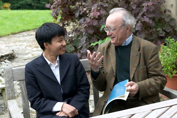 Kit Armstrong and Alfred Brendel. Passing on a lifetime's experience of exceptional piano playing