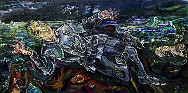 Knight Errant (1915) by Oskar Kokoschka