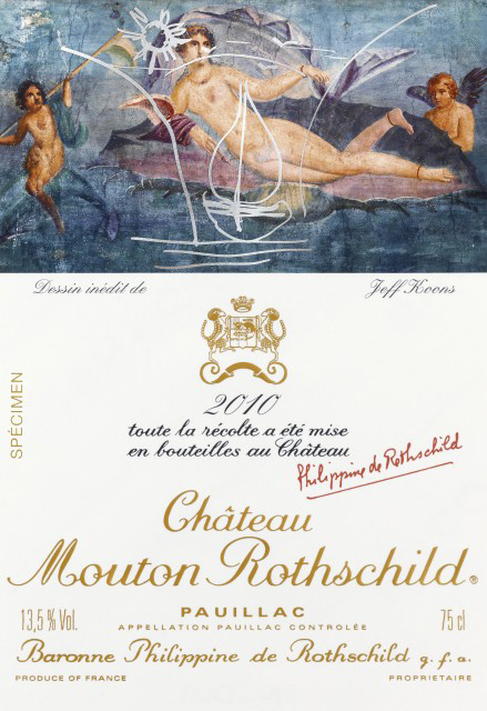 Koons's label for Château Mouton Rothschild's 2010 Pauillac