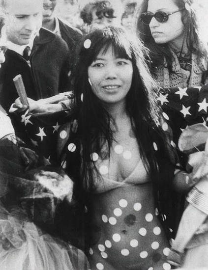 Yayoi Kusama at lovein, Central Park, New York, 1968