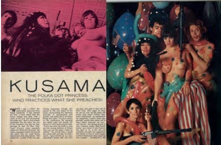 An example of the kind of press coverage Yayoi Kusama once received, as reproduced in our new book