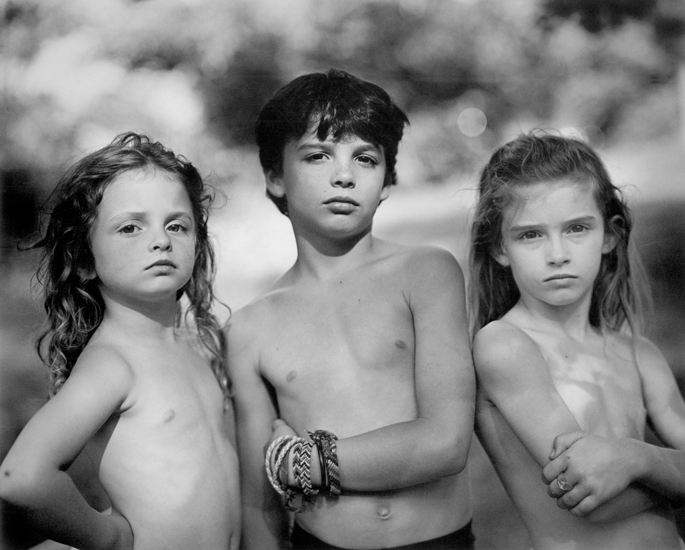 Sally Mann, Emmett, Jessie and Virginia (1989), from the series Immediate Family