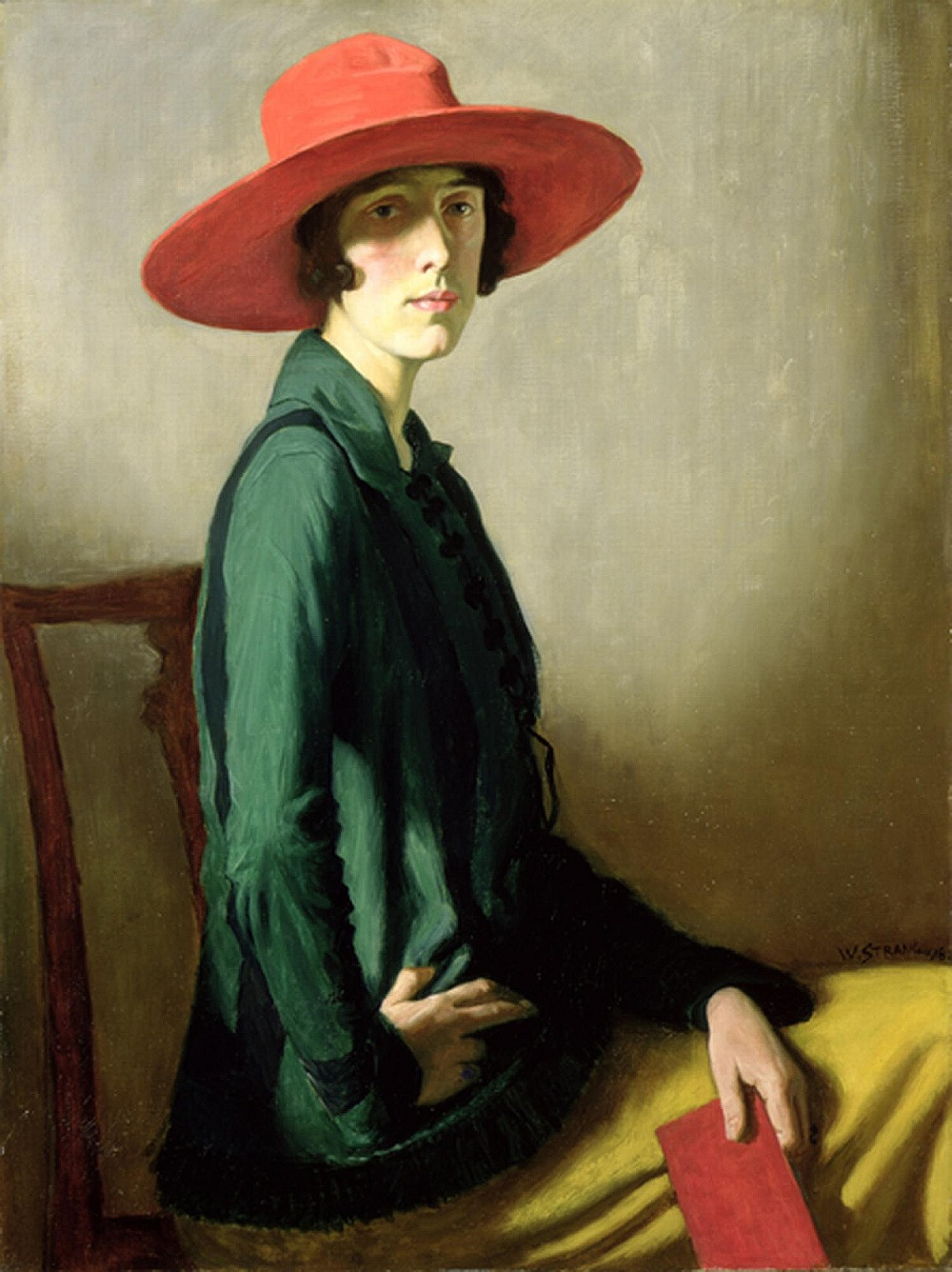 Lady with a Red Hat (Portrait of Vita Sackville-West) (1918) by William Strang