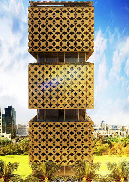 Lagos' Wooden Tower concept	for	Nigeria by	Hermann	Kamte & Associates