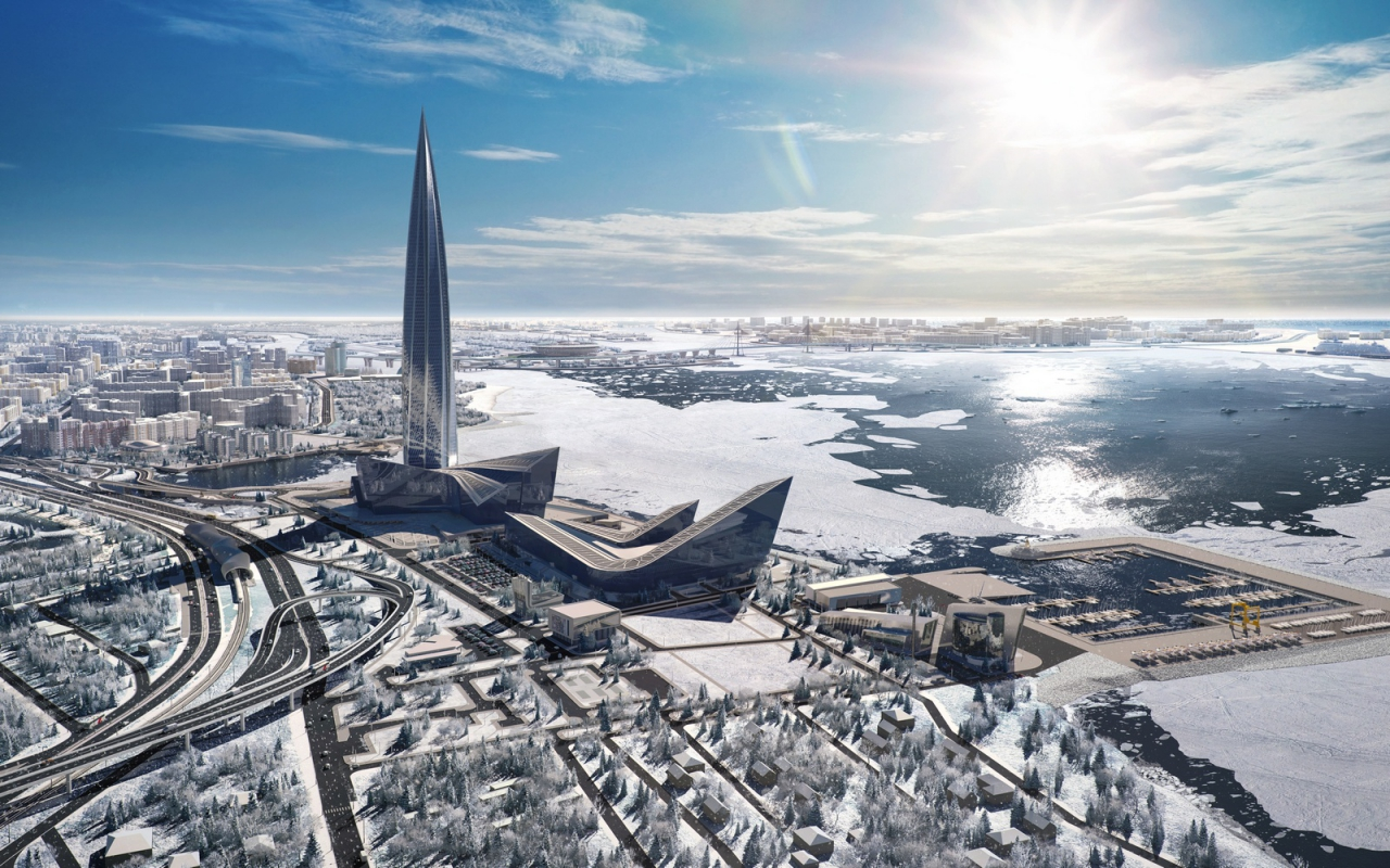 A rendering of the Lakhta Center, courtesy of www.lakhta.center