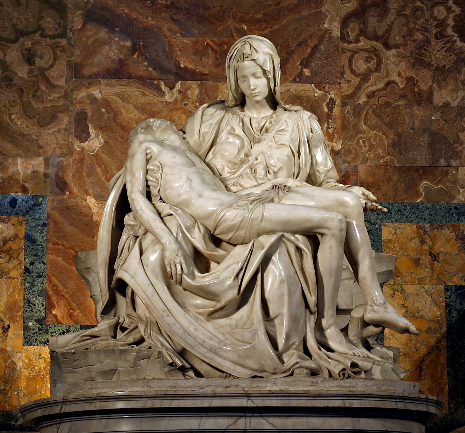 The Pietà (1498 – 99) by Michelangleo