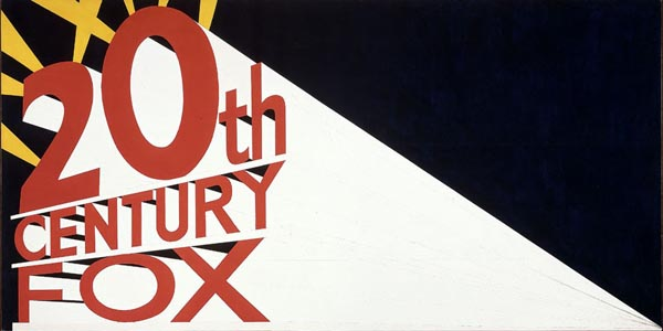 Large Trademark with Eight Spotlights (1962) by Ed Ruscha