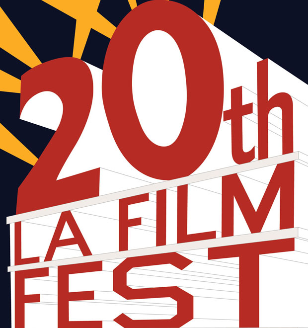Detail from Ed Ruscha's 2014 poster for the LA Film Festival