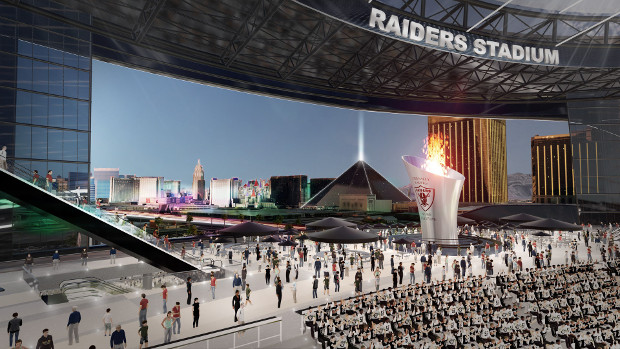 Manica Architecture's renderings for the proposed Las Vegas Raiders' stadium