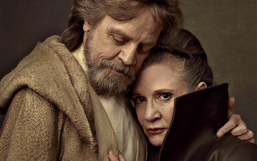 Mark Hamill and Carrie Fisher photographed Annie Leibovitz for Vanity Fair. Image courtesy of Vanity Fair