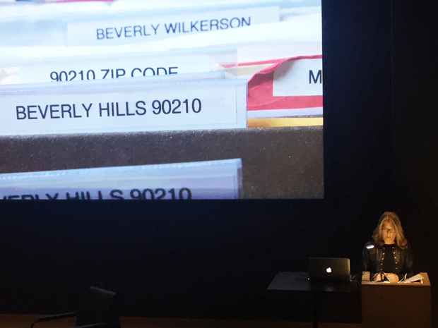 Lauren Greenfield talking at The Design Museum last night