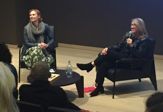 Lauren Greenfield at the Design Museum, London with Anne McElvoy, left