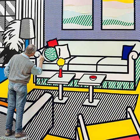 Laurie Lambrecht's photographs from inside Roy Lichtenstein's studio (1990)