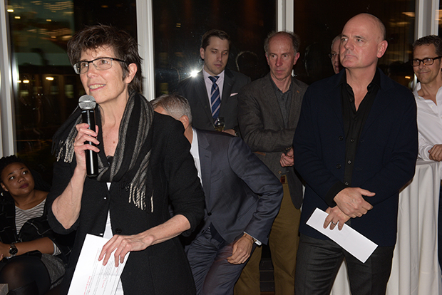Liz Diller made a toast with James Corner