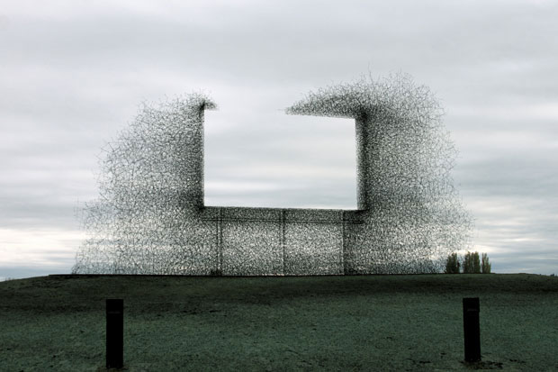 Lead Pencil Studio's Non-Sign II creates an illusion of a negative billboard thus encouraging viewers to look beyond the contoured area.