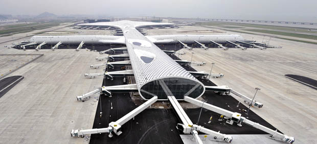 Shenzhen Bao'an Airport's new Terminal 3 by Studio Fuksas