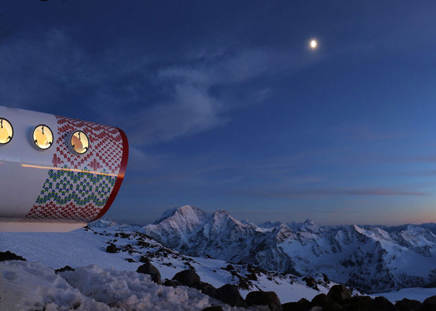 Tubular hotel opens in the Russian Caucasus