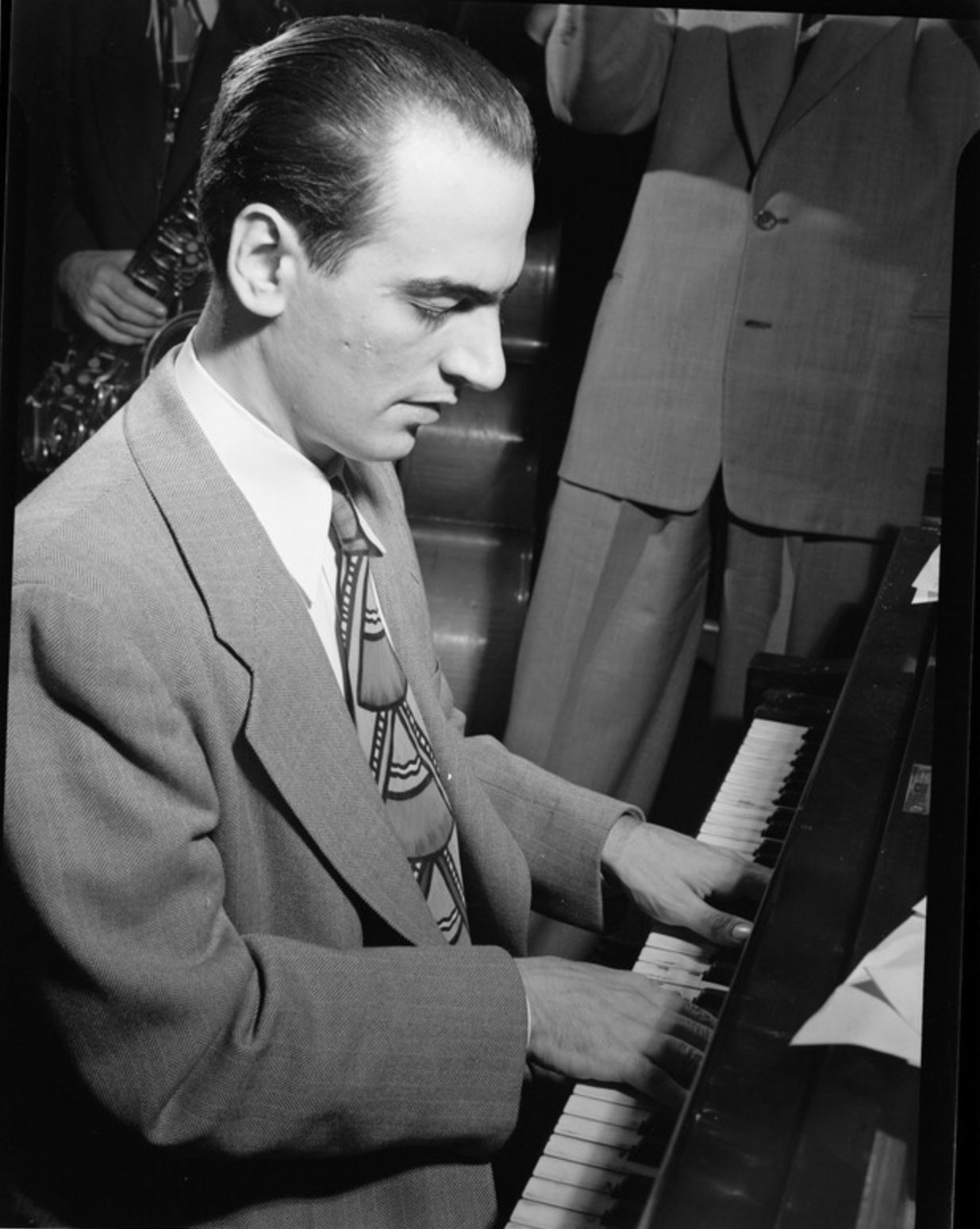 Lennie Tristano, ca. August 1947. Photography by William P. Gottlieb.