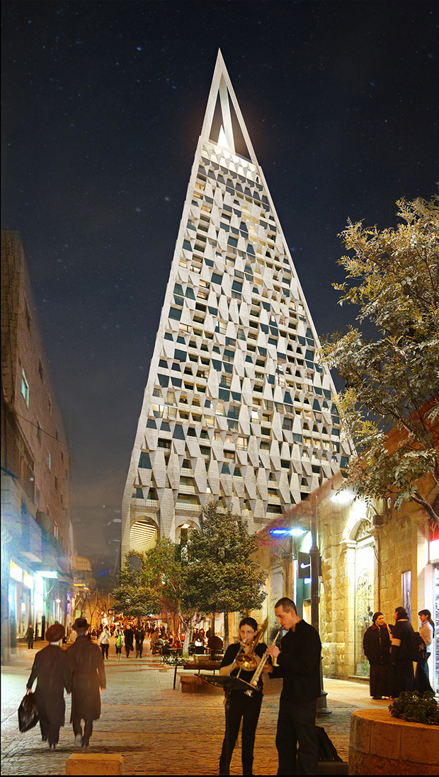 The Pyramid, Israel by by Studio Libeskind and Yigal Levi. Image courtesy of Vigntsix