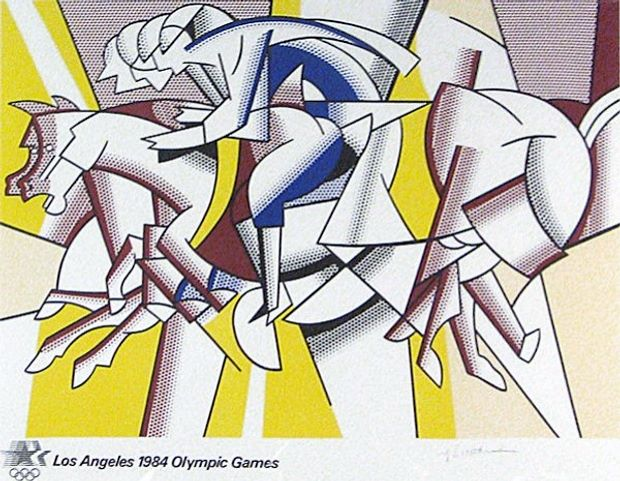 Roy Lichtenstein's poster for the 1984 Los Angeles Olympic Games