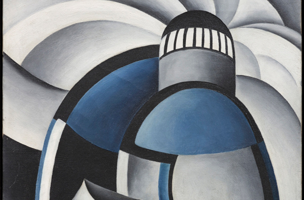 Detail from Variation on a Lighthouse Theme II, c. 1932 by Ida O'Keeffe