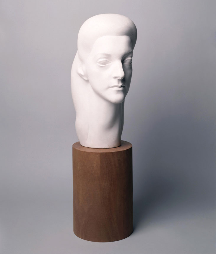 samu Noguchi. Lily Zietz, 1941. Plaster. 15 1/4 x 7 x 9 3/8 inches (38.7 x 17.8 x 23.8 cm) [base: 10 x 7 x 7 in. (25.4 x 17.8 x 17.8 cm)]. ©The Isamu Noguchi Foundation and Garden Museum, New York/ARS. Photograph by Kevin Noble.