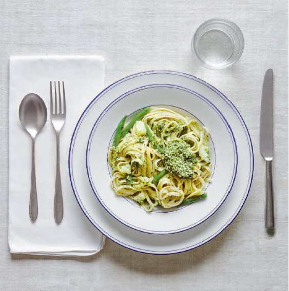 Linguine with pesto from The Silver Spoon Classic