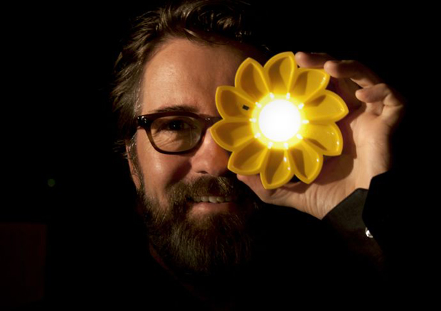 Olafur Eliasson with Little Sun