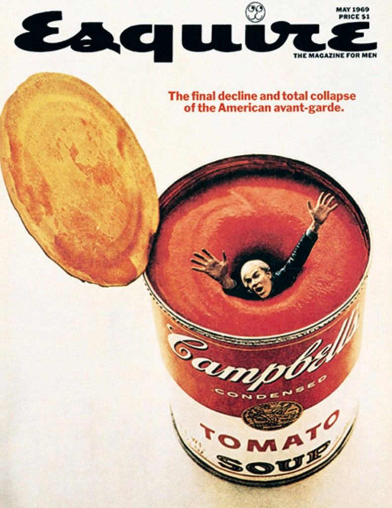 George Lois' May 1969 Andy Warhol cover for Esquire