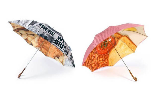 London Undercover, 'Slim Walker' umbrellas in Fish & Chips and English Breakfast