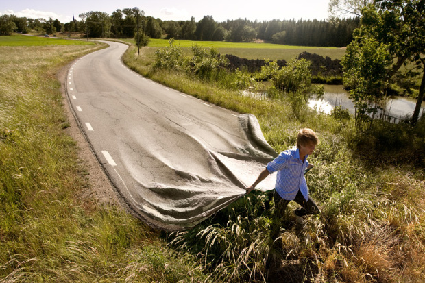 Go your own road, 2008 by Erik Johansson - As featured in The Photography Book - Image courtesy of erikjohanssonphoto.com