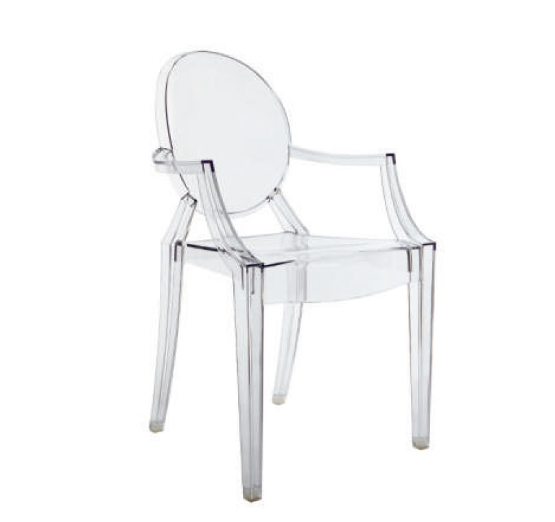Louis Ghost Chair, 2002, by Philippe Starck for Kartell. As reproduced in Chair: 500 Designs that Matter