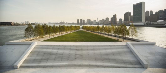 The Franklin D. Roosevelt Four Freedoms Park by Louis Kahn