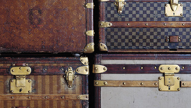 Stacked Louis Vuitton cases. Image courtesy of Louis Vuitton