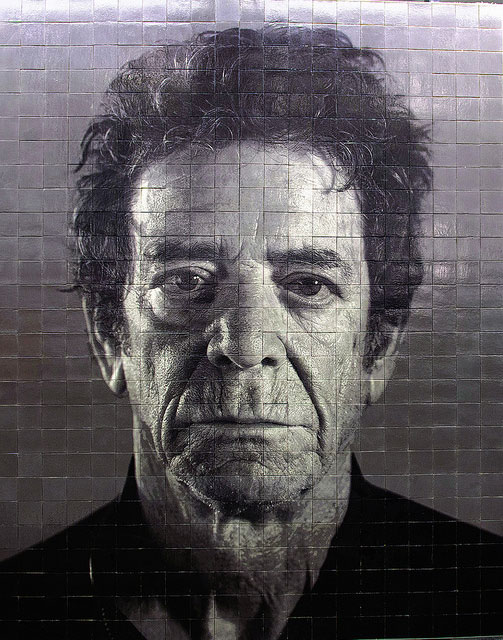 Chuck Close's Lou Reed portrait for the 86th Street Station