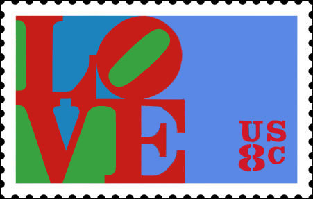 A 1973 US postage stamp featuring Indiana's design