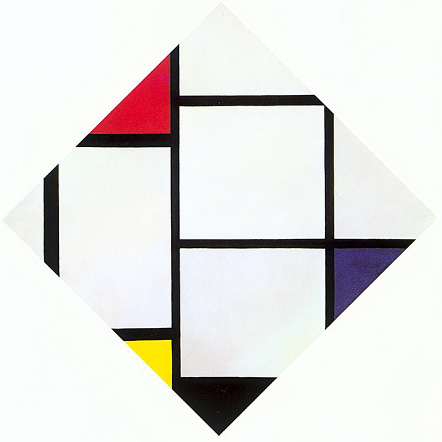 Lozenge Composition With Red, Gray, Blue, Yellow and Black (1925) by Piet Mondrian