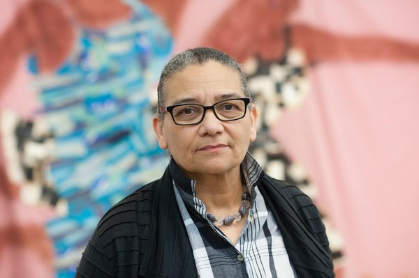 Lubaina Himid. Image courtesy of the artist and Hollybush Gardens. Photograph by Edmund Blok for Modern Art Oxford