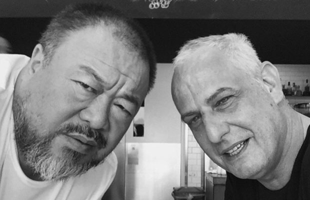 The Ai Weiwei and Luc Tuymans bromance!