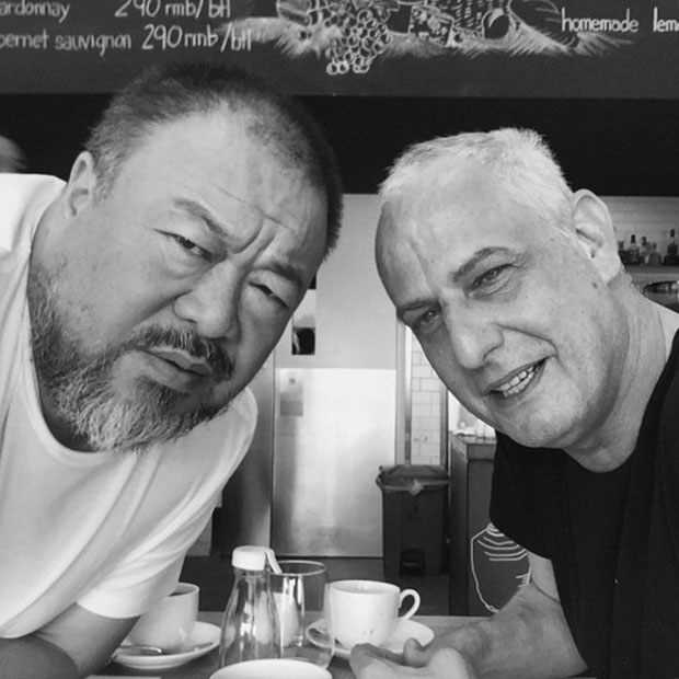 Ai Weiwei and Luc Tuymans in Berlin, June 2015. Images courtesy Ai Weiwei's Instagram