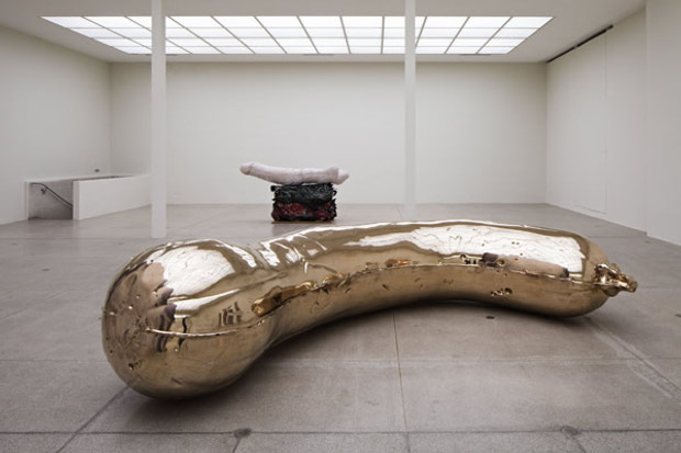 Installation view of NOB + Gelatin (2013) by Sarah Lucas. Photo by Wolfgang Thaler. Image courtesy of Sadie Coles