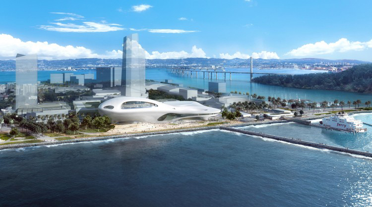 San Francisco concept design renderings for the Lucas Museum of Narrative Art by MAD Architects. Image courtesy of Lucas Museum of Narrative Art.