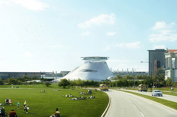 Lucas Museum of Narrative Art, Lake Michigan - MAD