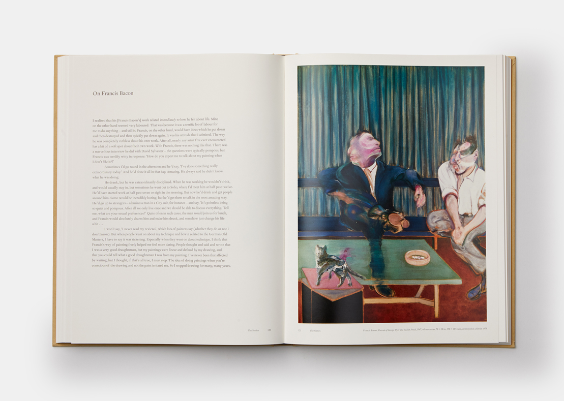 A spread from Lucian Freud: A Life