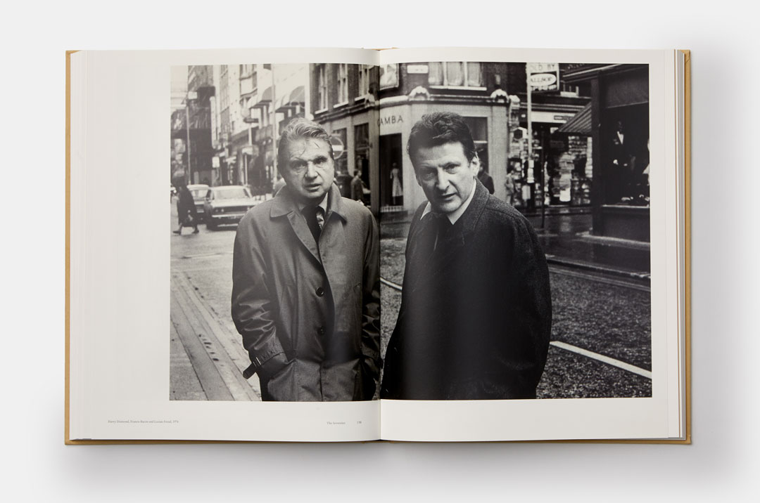 Francis Bacon and Lucian Freud in Soho, London 1974 - A spread from Lucian Freud: A Life