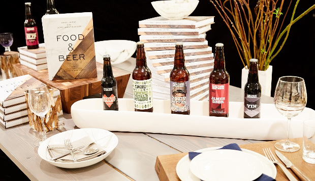 Barneys' Food & Beer table display